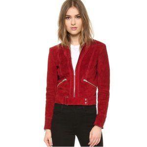 IRO Tatiana Leather Lambskin Suede Moto Jacket